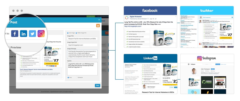 Social Kickstart V2 Features