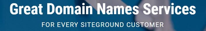 SiteGround Domain Registry Service