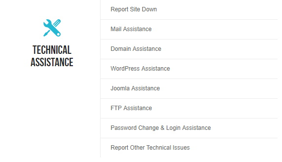 SiteGround Technical Assistance Options