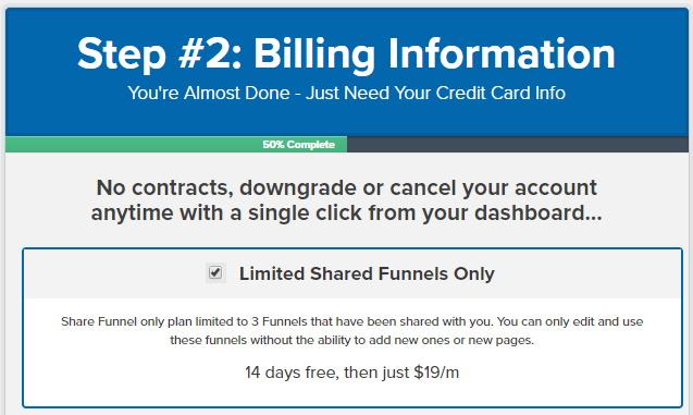 ClickFunnels Share Funnel Plan Checkbox
