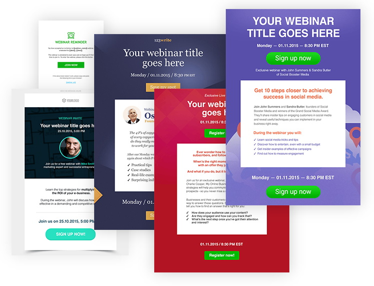 GetResponse Webinar Templates