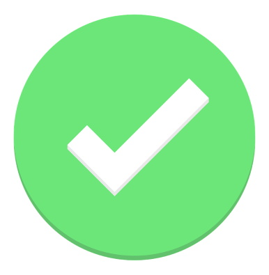 Checkmark in a green circle