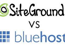 SiteGround Vs. Bluehost Logos 2
