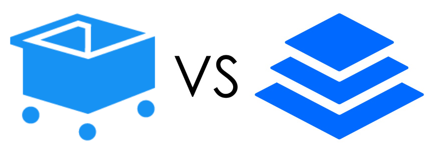SamCart Vs. Leadpages Logos