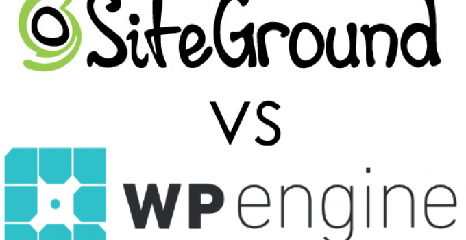 SiteGround Vs. WP Engine Logos