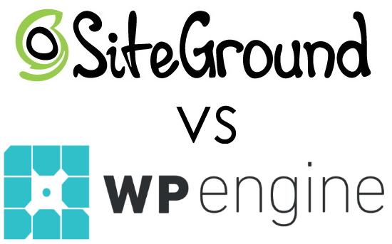 SiteGround Vs. WP Engine Logos