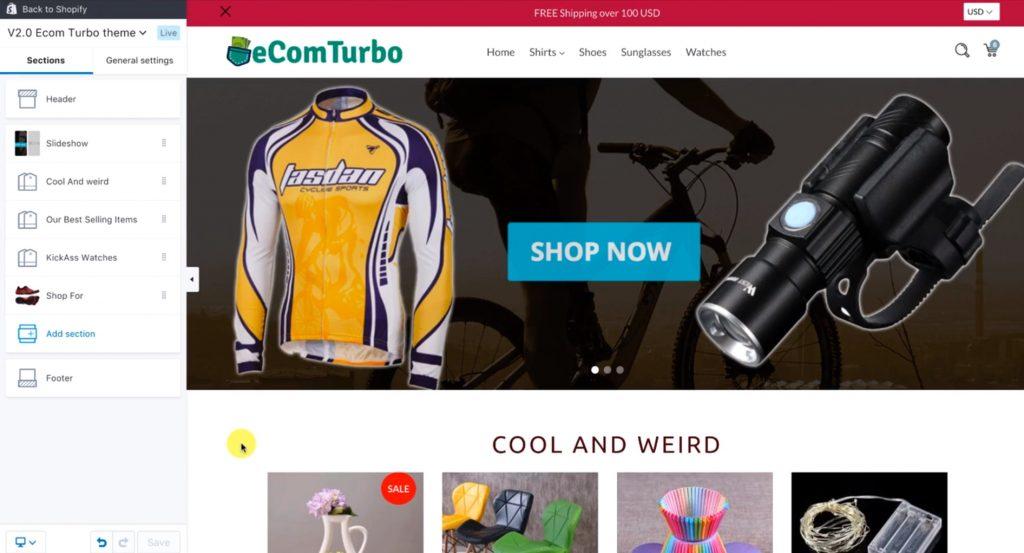 eCom Turbo sample theme layout