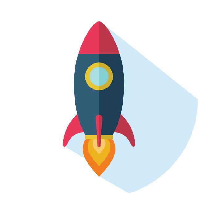 Rocket speed graphic