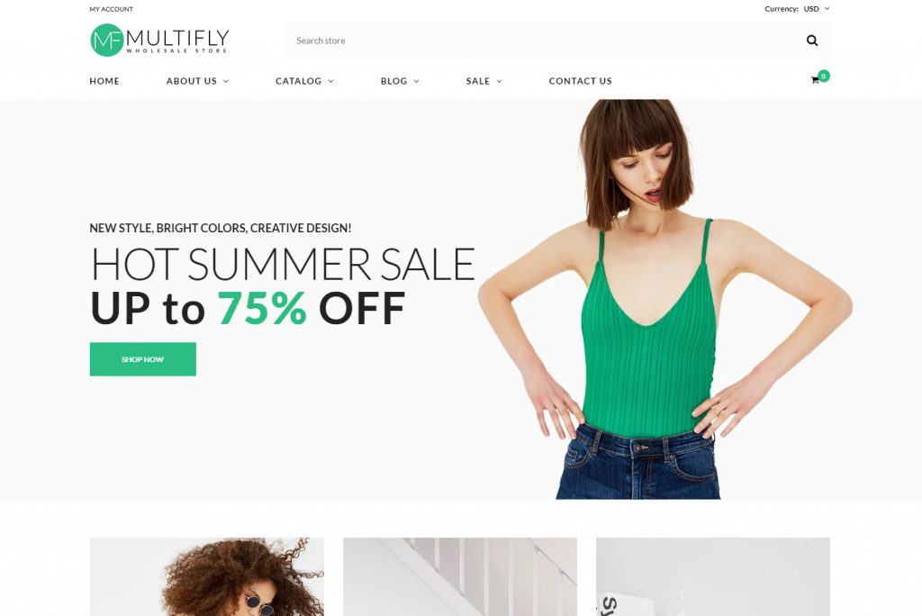 Shopify Multifly Theme Sample