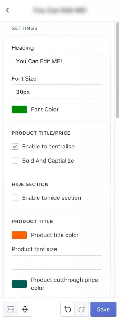 eCom Turbo - Collection Options