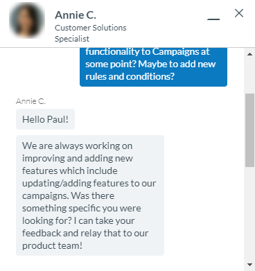 AWeber Support Chat Example