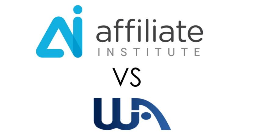 Affiliate Institute vs. Wealthy Affiliate Logos